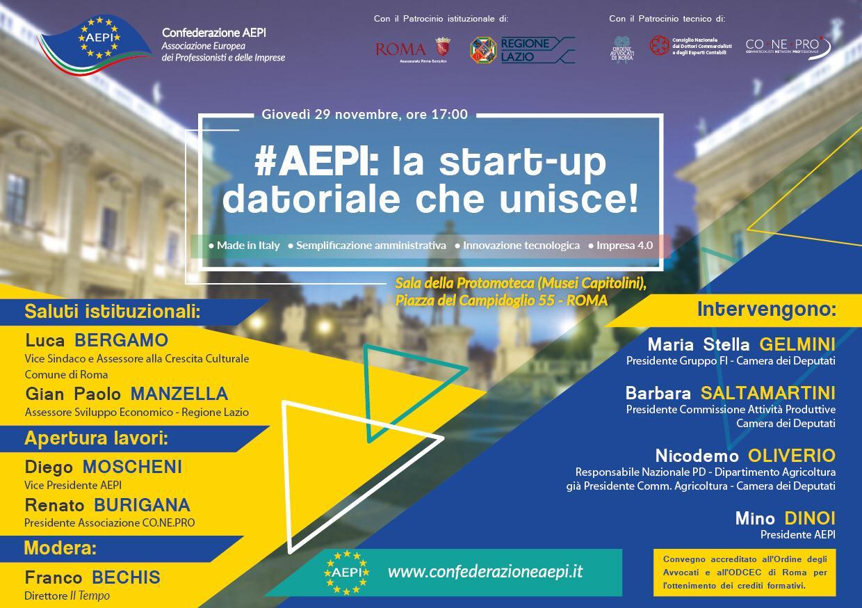 AEPI si presenta: appuntamento in Campidoglio il 29 Novembre