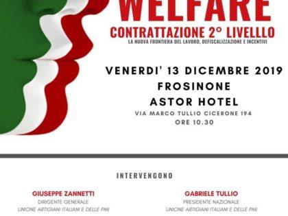 Lavoro: welfare e contrattazione, il 13 Dicembre convegno a Frosinone