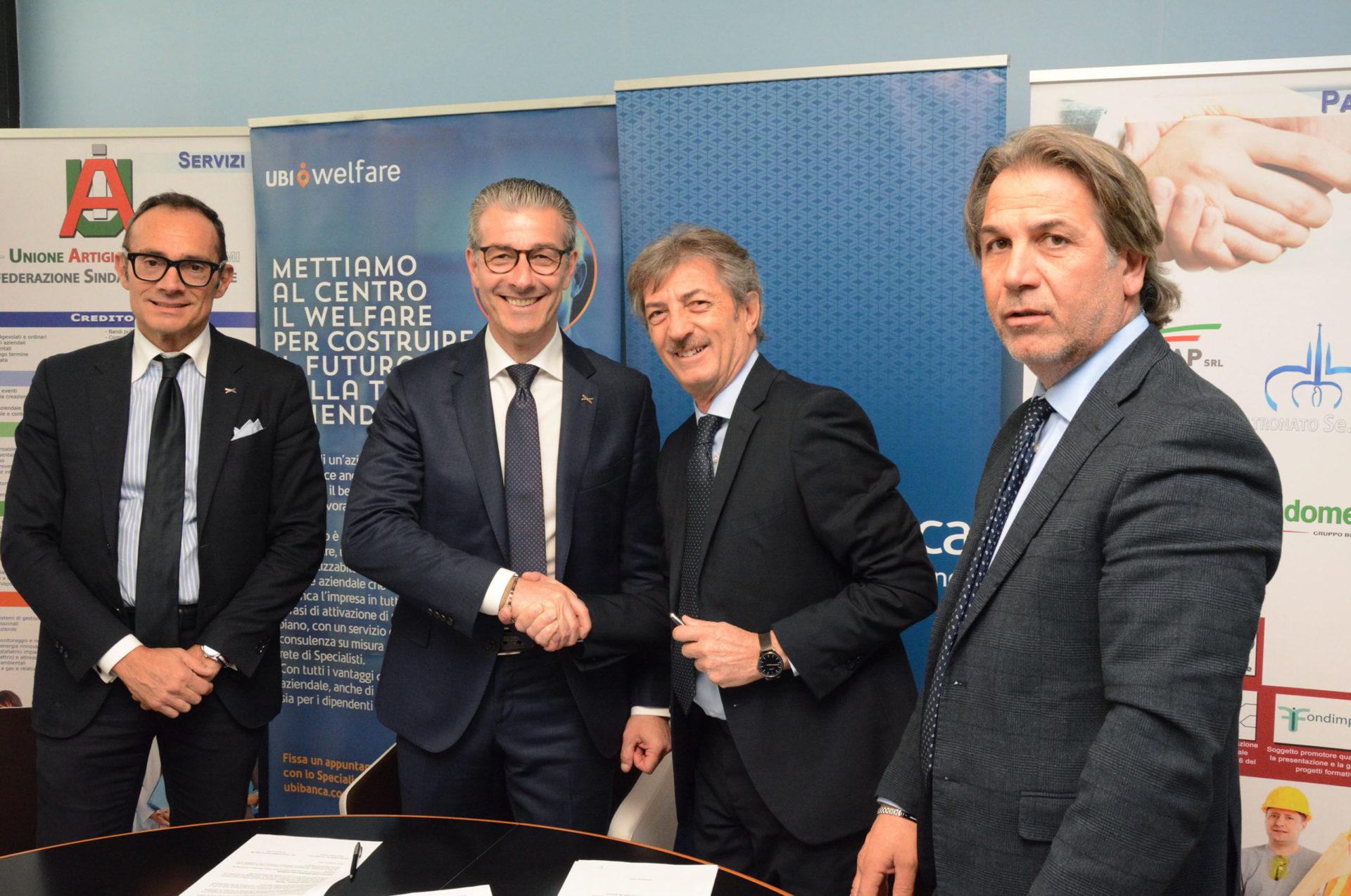 Welfare, sottoscritto a Roma l'accordo tra la Uai e Ubi Banca